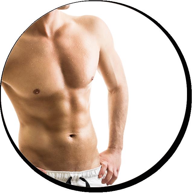 Liposucción corporal masculina